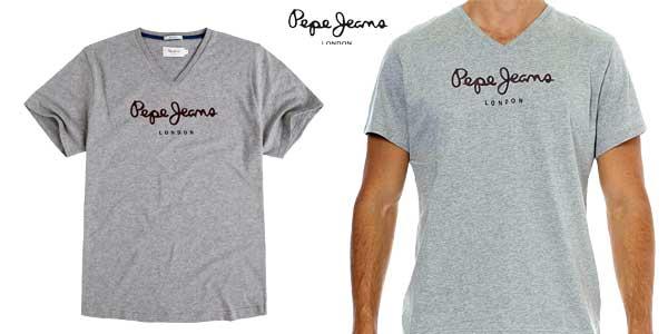 Camiseta Pepe Jeans Eggo V para hombre chollazo en Amazon Moda