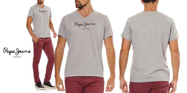 Camiseta Pepe Jeans Eggo V para hombre barata en Amazon Moda