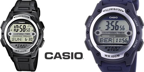 Reloj Casio Collection W-756-2AVES negro para hombre barato en Amazon Moda