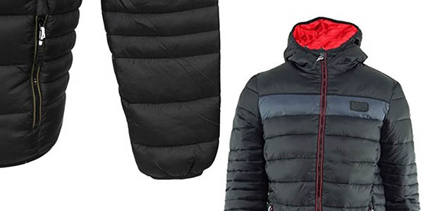 chaqueta Kappa capucha impermeable abrigo oferta