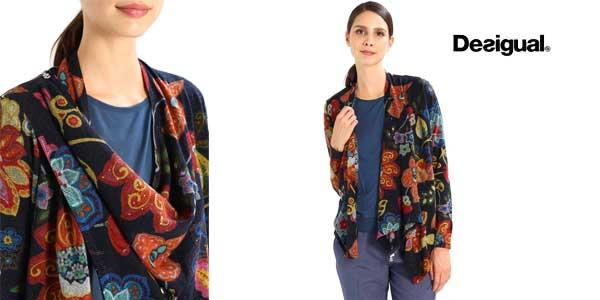 Blusa estampada de punto Desigual Celia chollazo en Amazon Moda