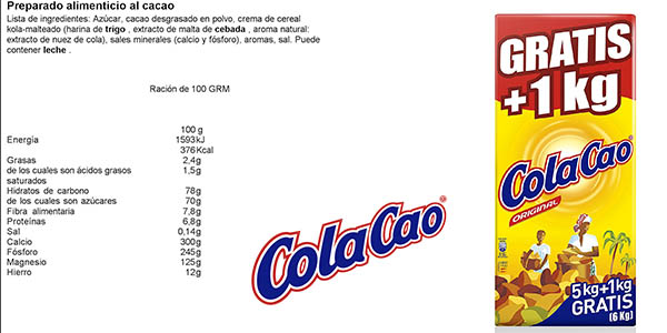 ColaCao envase familiar 6 kg chollo