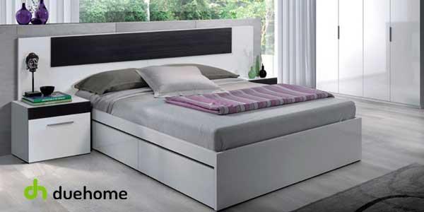 Conjunto cabezal y 2 mesitas Tempus de Duehome para cama de matrimonio chollazo en eBay