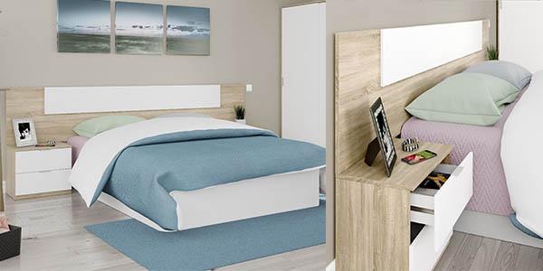 DueHome Luca cabezal cama doble mesitas noche oferta