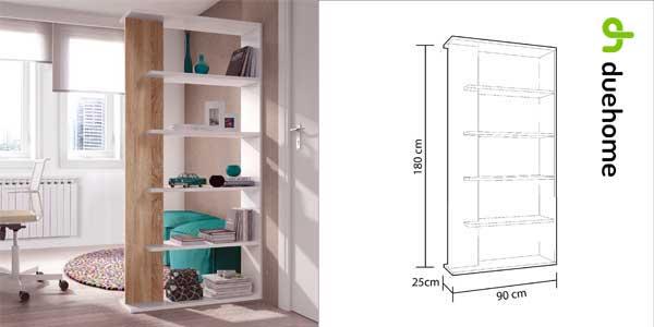 Estantería librería Alida en blanco roble y canadian de Duehome barata en eBay España