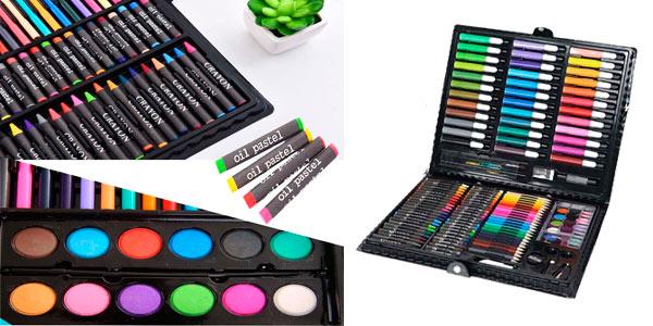 Estuche artístico de 150 piezas ideal para niños a buen precio