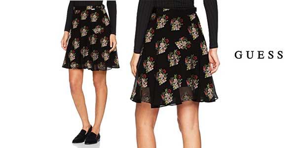 Falda corta Guess estampada de flores para mujer chollo en Amazon Moda