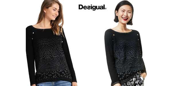 Jersey suéter Desigual Gaea para mujer chollazo en Amazon Moda