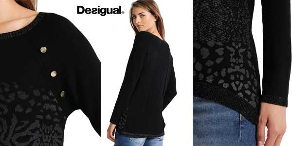 Jersey suéter Desigual Gaea para mujer chollo en Amazon Moda