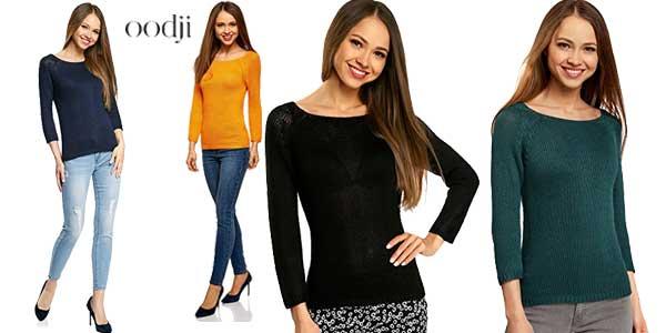 Jerséis básicos de cuello redondo de Oodji Ultra en multitud de colores chollazo en Amazon Moda