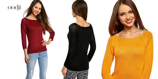 Jerséis básicos de cuello redondo de Oodji Ultra en multitud de colores baratos en Amazon Moda