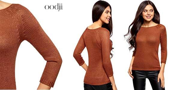 Jerséis básicos de cuello redondo de Oodji Ultra en multitud de colores chollo en Amazon Moda