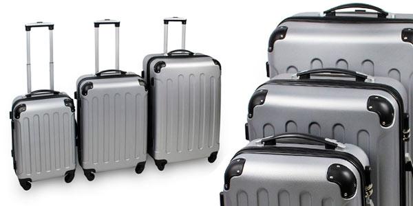 d1d9858cb CHOLLO FLASH: Juego de 3 maletas rígidas Todeco con 4 ruedas ...