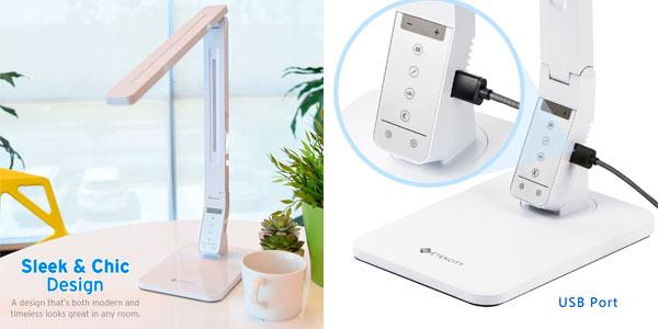 Lámpara de escritorio LED de Etekcity regulable plegable y barata