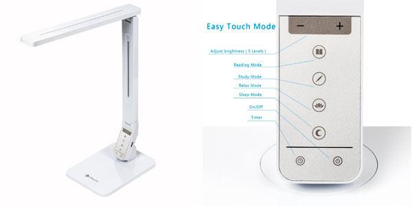 Lámpara de escritorio LED inalámbrica con 4 modos de luz