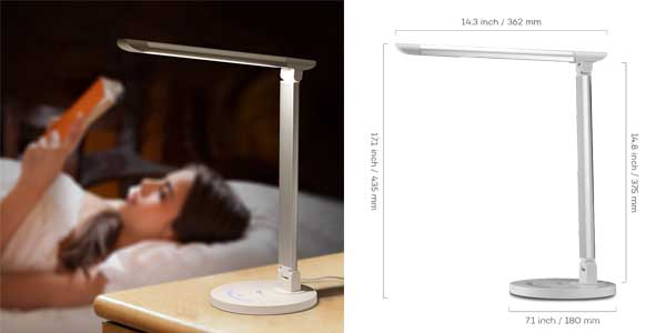 escritorio regulable en LED Lámpara Chollo TaoTronics de vOm80Nnw
