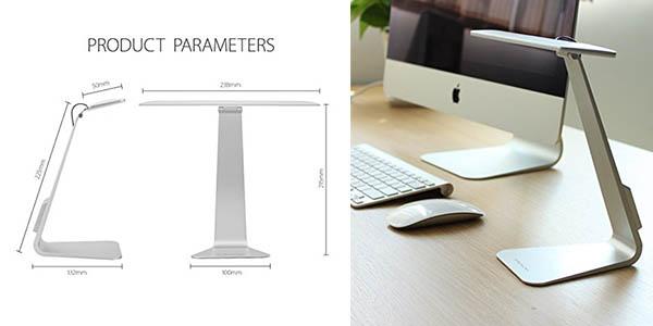 lámpara LED diseño Apple regulable intensidad recargable USB oferta