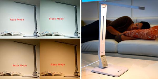 Lámpara de mesa LED inalámbrica regulable en oferta en Amazon