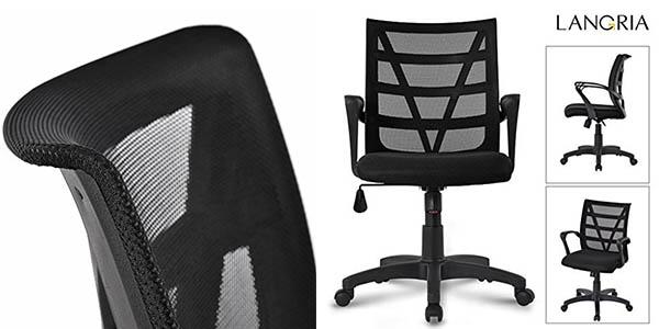 Chollo flash silla de escritorio langria regulable con for Oferta silla escritorio