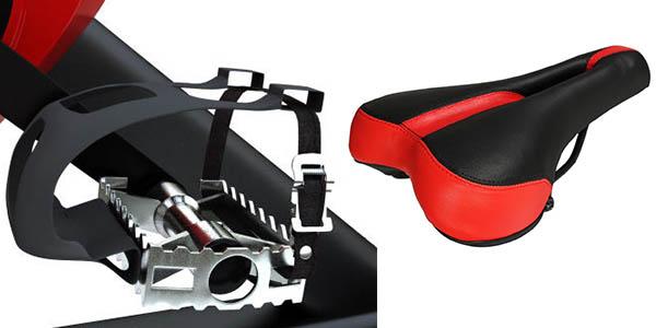 Maketec bicicleta estática con suspensión volante inercia pesado barata