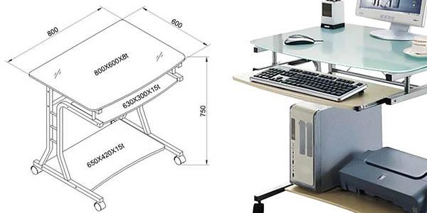 mesa resistente diseño moderno ordenador impresora relación calidad-precio brutal