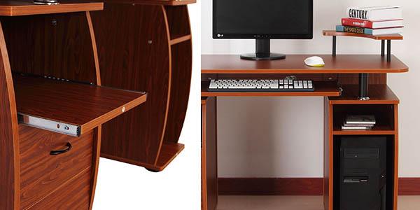 mesa trabajo doméstica para ordenador impresora diseño atemporal
