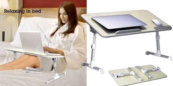 Mini mesa portátil ajustable Avantree, ideal para portátil o lectura barata en Amazon