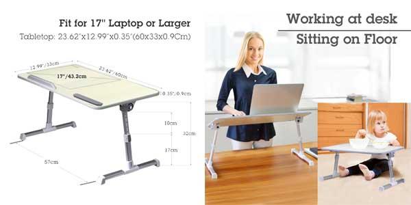 Mini mesa portátil ajustable Avantree, ideal para portátil o lectura chollo en Amazon