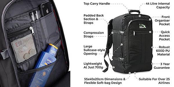 mochila con medidas de cabina avión Cabin Max Metz chollo