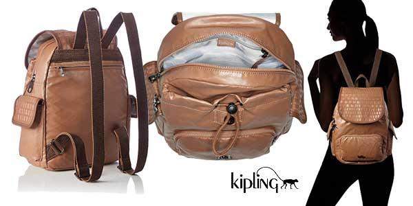Bolso mochila Kipling City Pack S Woven para mujer en dos colores chollazo en Amazon Moda