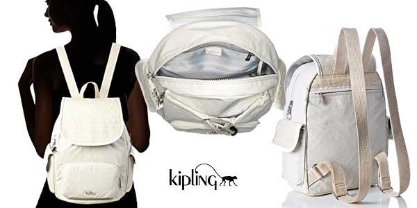 Bolso mochila Kipling City Pack S Woven para mujer en dos colores chollo en Amazon Moda