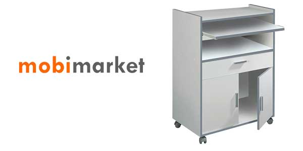 Mueble auxiliar con ruedas, ideal microondas chollazo en eBay