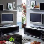 Mueble de salón-comedor en blanco y negro brillo chollazo en eBay