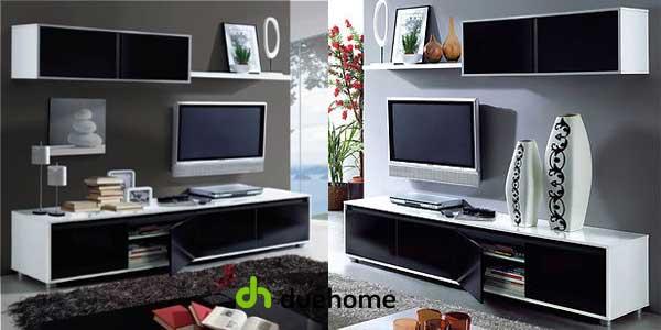 Chollo Mueble de salón-comedor Duehome de diseño moderno en blanco y ...