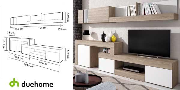 Chollo mueble moderno argos de cuatro m dulos para sal n for Muebles comedor por modulos