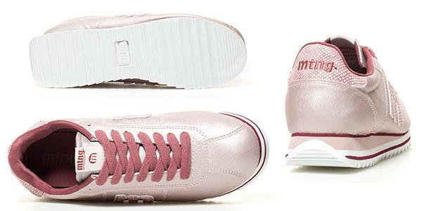 Mustang Grail zapatillas rosa metalizado cómodas oferta