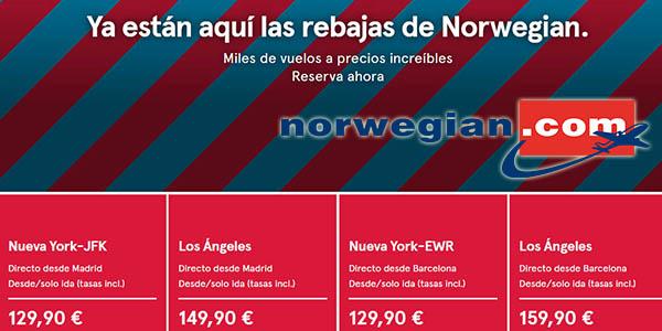 Norwegian rebajas de enero 2019