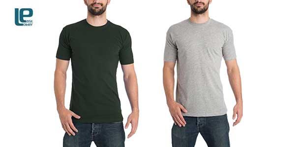 Pack 10 camisetas Lower East para Hombre chollazo en Amazon Moda