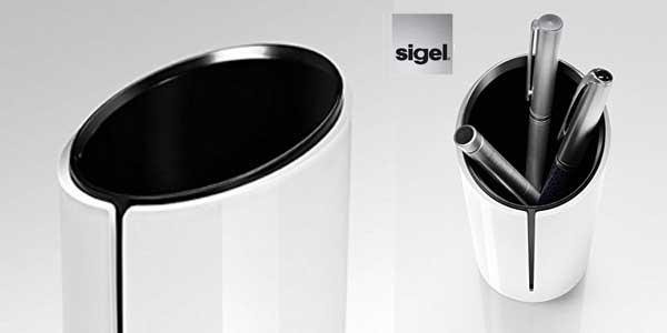 Portalápices de diseño Sigel SA100 blanco (70 x 135 x 70 mm) chollo en Amazon