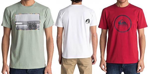Quiksilver camisetas manga corta hombre diseños casuales chollo