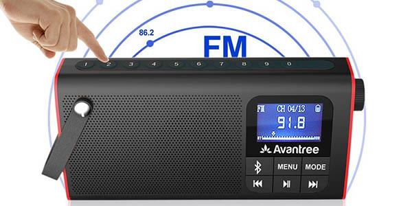 Altavoz bluetooh con radio FM y reproductor MP3 Avantree barato