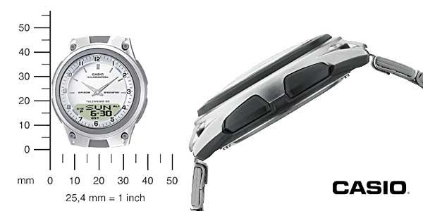 ea047f7605cb Chollo Reloj Casio Collection AW-80D-7AVES de acero inoxidable para ...