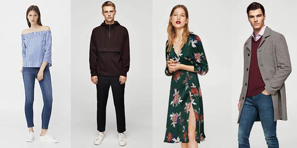 ropa casual abrigos pantalones para mujer hombre y niños Rebajas Mango online