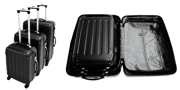 set 3 maletas Todeco ABS resistente ruedas oferta Amazon