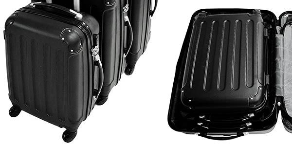 set de equipaje en varias medidas resistente apilables fácil almacenaje oferta