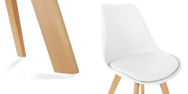sillas comedor diseño nórdico color blanco oferta