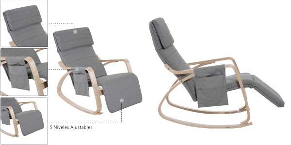 Sillón de relax mecedora Homcom con posición ajustable chollazo en eBay