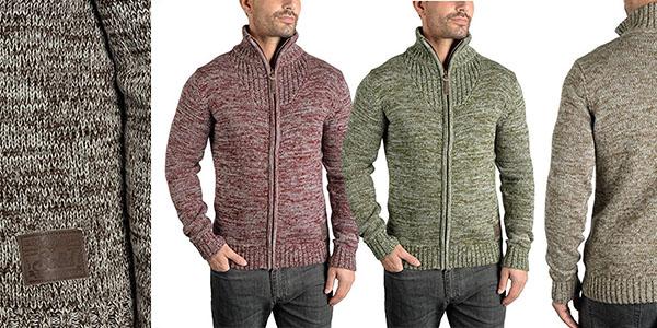 Solid Pomeroy jersey cremallera elegante abrigo hombre chollo