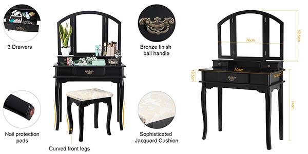 tocador escritorio Langria funcional diseño retro relación calidad-precio genial