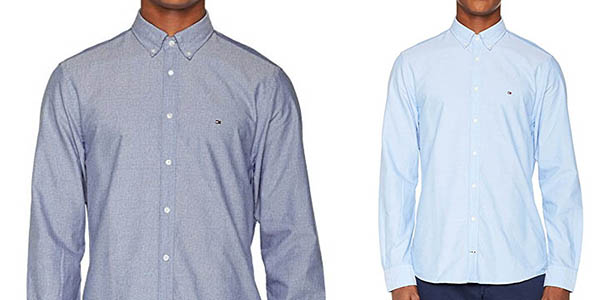 Tommy Hilfiger camisa vestir hombre manga larga relación calidad-precio brutal